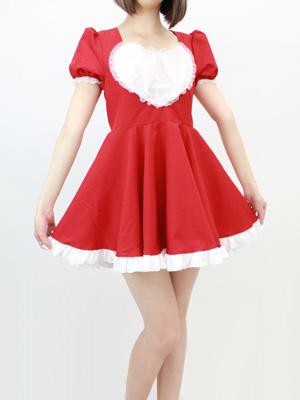赤いメイド服